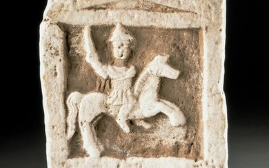 Thracian Stone Relief Panel - Horse and Rider