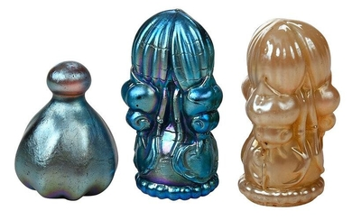 Three Favrile Glass Seals Attributed to Tiffany