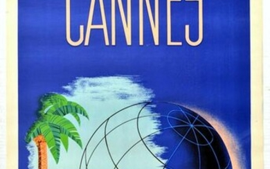 Travel Poster Cannes French Riviera Art Deco Cotes D