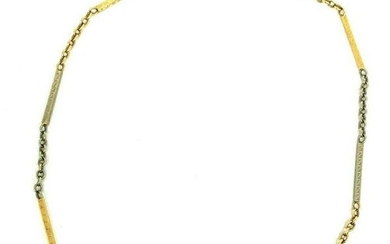 VICTORIAN Two Tone Gold Watch Chain Necklace