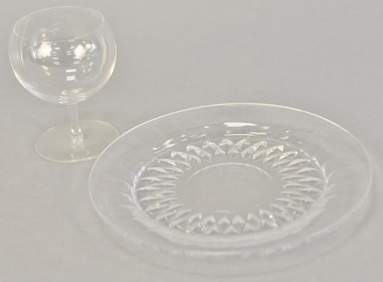 Val St. Lambert glassware, twenty-two pieces, all