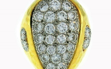 Van Cleef & Arpels Diamond Yellow Gold RING 1980s
