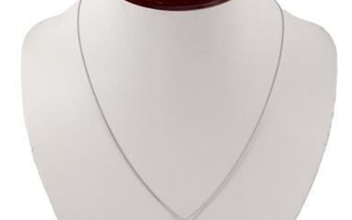 White gold necklace, 14 krt., 50 cm long with a 14 krt.