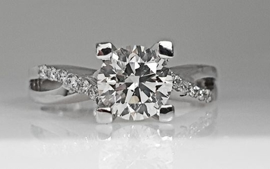 14 kt. White gold - Ring - 1.20 ct Diamond - No Reserve VS2