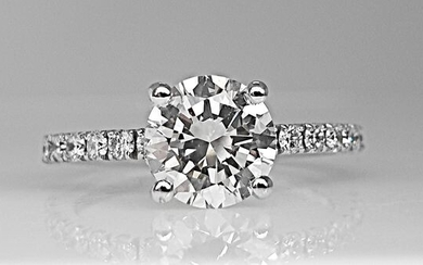 14 kt. White gold - Ring - 1.89 ct Diamond - No Reserve VS1