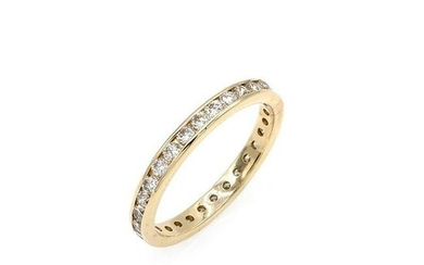 14K Yellow Gold 2mm Diamond Eternity Band