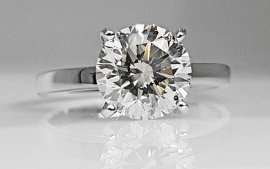 18 kt. White gold - Ring - 1.52 ct Diamond - No Reserve VS2