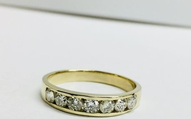 18ct yellow gold 0.70ct eternity ring,0.70ct si grade...