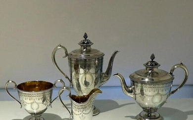 19th Century Antique Victorian Sterling Silver Four