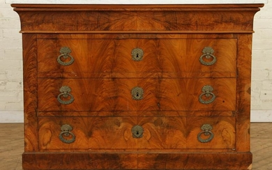 19TH CENT. FRENCH EMPIRE MARBLE TOP COMMODE