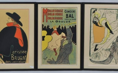 3 Henri De Toulouse Lautrec Reproduction Posters