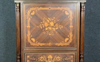 Secrétaire - Napoleon III - Marquetry - Late 19th century