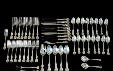 51 Pc. Sterling Silver Flatware Set, Old Colonial by