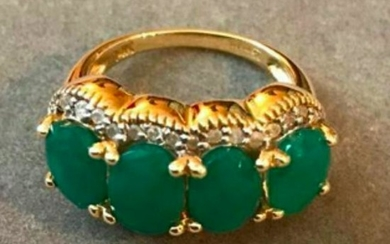 5.50ctw Emerald & Diamond 14kt Gold Ring