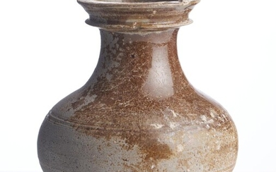 A CHINESE OLIVE GLAZED GREY-WARE HU HAN DYNASTY (220BC - 206AD)