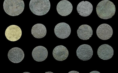 A Collection of 17th Century Tokens formed by a
