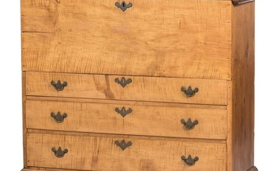 A Country Chippendale Maple Mule Chest