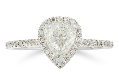 A DIAMOND SOLITAIRE RING, TRESOR PARIS set with a pear