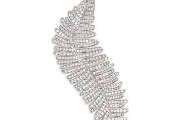 Margherita Burgener, A Diamond and Titanium 'Feather' Pendant/Brooch, Margherita Burgener