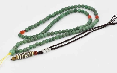 A GREEN STONE NECKLACE