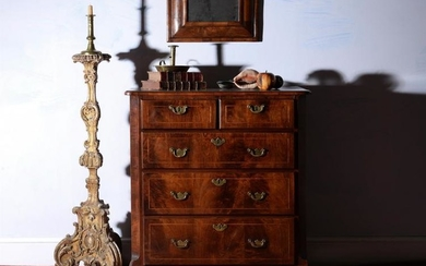 A George I walnut chest of drawers, circa 1725