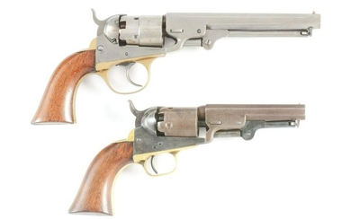 (A) LOT OF TWO PERCUSSION REVOLVERS: (A) COOPER 1860