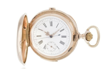 A Swiss chronograph/repeating pocket watch
