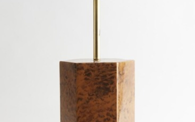 A VINTAGE TABLE LAMP IN THE STYLE OF WILLY RIZZO, 58 CM TOTAL HEIGHT, LEONARD JOEL LOCAL DELIVERY SIZE: SMALL