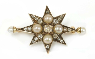 A Victorian diamond and pearl India star