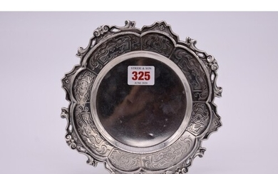 A Victorian silver card tray, by Henry Wilkinson & Co, S...