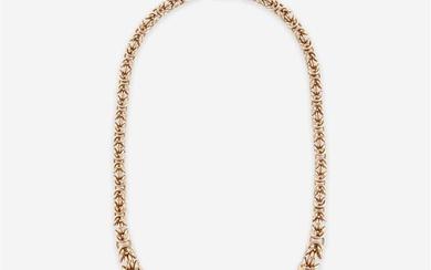 A fourteen karat chain necklace italy designed as a...