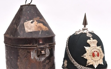 A good Vic officer's blue cloth spiked helmet of the 2nd Abe...