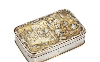 A late George III silver gilt table snuff box by John Linnit & William Atkinson