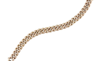 A late nineteenth century gold curb link...