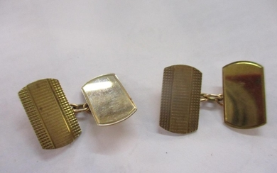 A pair of 9ct gold cufflinks Location:Cab