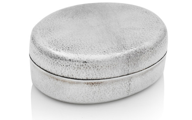 A silver sweets box and cover