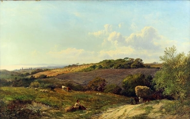 ALFRED WALTER WILLIAMS (1824-1905) - Oil painting - Cattle,...