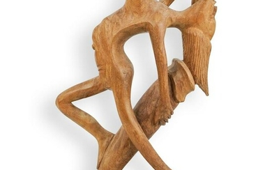 African Carved Nude Sculpture