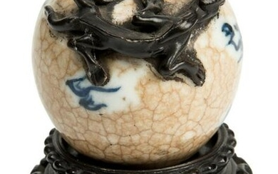 Ancient Chinese Inkwell Porcelain period Guan with