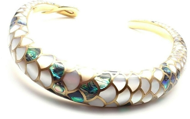 Angela Cummings 18k Gold White & Green Mother Of Pearl