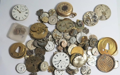 Approximately 80 Mechanical Watch Movements including Omega,...