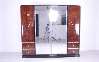 Art Deco rosewood wood cabinet from the 1920s