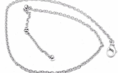 Authentic Bvlgari Bulgari 18k White Gold Simple Chain