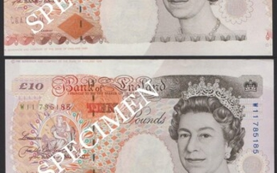 Bank of England, £10 (7), Gill (3), Kentfield (4) and Lowther, (EPM B354, 366, 369, 395)