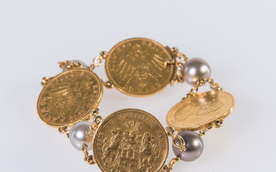 Bracelet with gold coins
