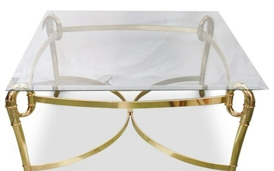 Brass & Glass Top Coffee Table
