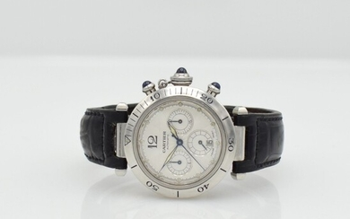 CARTIER Pasha wristwatch with chronograph, Switzerland around...
