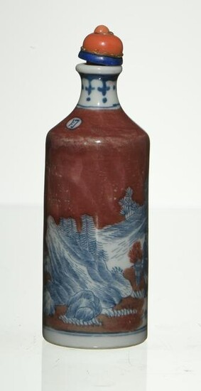 Chinese Underglazed Snuff Bottle, 19th Century