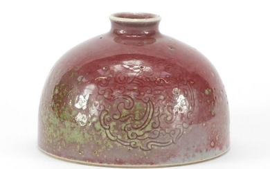 Chinese porcelain peach bloom glazed Taibai Zun water