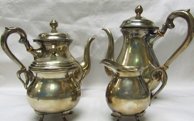 Coffee and tea service - .900 silver - Peru - First half 20th century